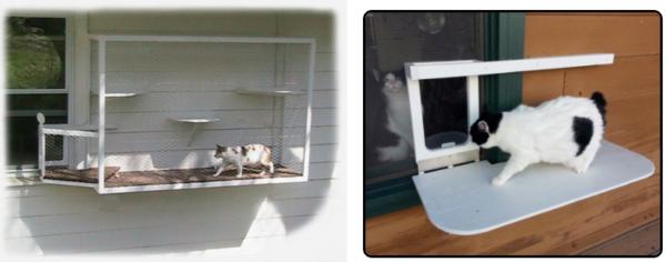 Cat Terrace Door and Cage